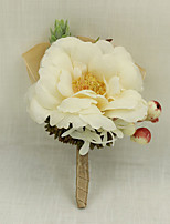 Wedding Flowers Grace Boutonnieres Wedding / Special Occasion / Satin / Fabric Corsage for The Bridegroom 1 Piece
