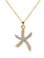 Necklace Choker Necklaces Pendant Necklaces Jewelry Birthday Party Daily Casual Star Dangling Style Personalized Alloy Rhinestone Women