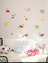 Animales Caricatura Romance Pegatinas de pared Calcomanías de Aviones para Pared Calcomanías Decorativas de Pared MaterialDecoración