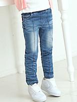 Jeans Da ragazza Cotone Tinta unita Per tutte le stagioni
