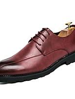 Для мужчин обувь Натуральная кожа Кожа Полиуретан Осень Зима Удобная обувь Светодиодные подошвы Формальная обувь Туфли на шнуровке