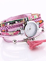 Women's Fashion Watch Bracelet Watch Unique Creative Watch Chinese Quartz PU Band Elegant Black Blue Orange Brown Green Pink