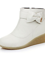 Women's Boots Comfort Winter PU Casual White Flat
