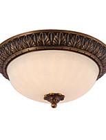 Clássico clássico de latão 2 luz de montagem em flush interno montagem de teto da coleção de plantação