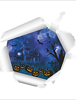 Wall Stickers Wall Decas Style Halloween Frighten Castle Pumpkin Head PVC Wall Stickers