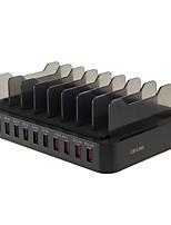Chargeur USB 10 ports Station de chargeur de bureau Avec interrupteur (s) Stand Dock Universel Adaptateur de charge