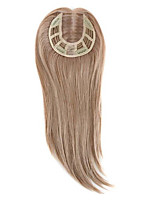 Uniwigs Remy Human Hair Mono Hairpiece Closure Hand Made Tied Hair Topper Straight 16 Inches for Hair Loss (Y-22)