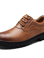 Men's Oxfords Formal Shoes Nappa Leather Spring Fall Winter Casual Office & Career Party & Evening Light Brown Black 1in-1 3/4in