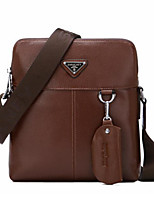 Men Bags All Seasons Cowhide Shoulder Bag with for Casual Outdoor Black Brown