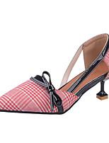 Для женщин Обувь на каблуках Удобная обувь Ткань Полиуретан Весна Осень Повседневные Серый Розовый 4,5 - 7 см