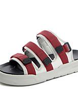 Для мужчин Сандалии Удобная обувь Гладиаторы Светодиодные подошвы Ткань Лето Повседневные Для прогулок На липучках На плоской подошве