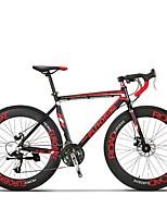 Cruiser велосипедов Велоспорт 27 Скорость 26 дюймы/700CC MICROSHIFT TS70-9 Дисковый тормоз Без амортизации Стальная рама Углерод