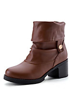 Women's Boots Comfort Combat Boots Winter Real Leather PU Casual White Black Brown Almond Flat