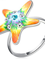 Settings Ring Band Ring Luxury Women's Euramerican Fashion Star Multicolor Style Birthday Wedding Movie Gift Jewelry