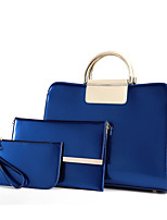 Women Bags All Seasons PU Bag Set with for Casual Formal Blue Black Purple Wine