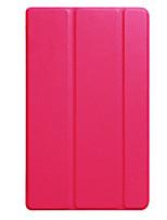 Para capa capa estofamento translúcido origami caso de corpo inteiro cor sólida couro duro para huawei t3 8.0 kob-l09 / w09
