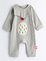 Baby Geometric One-Pieces,Cotton Spring/Fall Long Sleeve