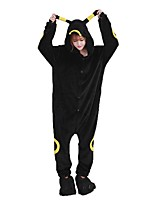 Kigurumi Pajamas Moon Elf Leotard/Onesie Shoes Festival/Holiday Animal Sleepwear Halloween Fashion Embroidered Flannel Fabric Cosplay With Shoes