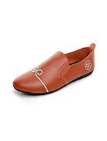 Для мужчин Мокасины и Свитер Удобная обувь Искусственное волокно Лето Осень Повседневные На плоской подошве Белый Черный ХакиНа плоской