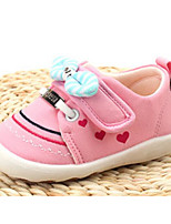 Girls' Flats Comfort First Walkers Fabric Spring Fall Casual Blushing Pink Flat