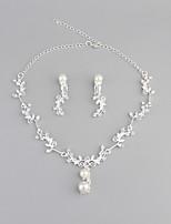 Жен. Ожерелья с подвесками Искусственный жемчуг Стразы Базовый дизайн Сплав Назначение Свадьба Для вечеринок Halloween Повседневные