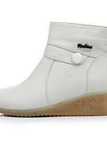 Women's Boots Comfort Winter PU Casual White Flat