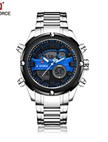 NAVIFORCE Men's Sport Watch Dress Watch Digital Watch Japanese Quartz Digital Water Resistant / Water Proof Dual Time ZonesStainless