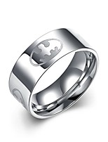 Men's Ring Jewelry Circular  Titanium Steel Round Jewelry For Daily Casual