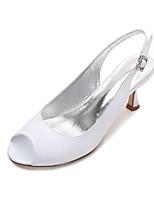 Women's Wedding Shoes Comfort Basic Pump Spring Summer Satin Wedding Dress Party & Evening Rhinestone Sparkling Glitter Low Heel Kitten