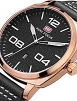 Hombre Reloj Deportivo Reloj Militar Reloj de Moda Reloj de Pulsera Reloj creativo único Reloj Casual Cuarzo Calendario Cuero Auténtico