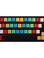 Abs 37 teclas retroiluminación arco iris keycaps amarillo teclado mecánico