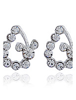 Women's Stud Earrings Basic Fashion Rhinestone Alloy Jewelry For Wedding Party Birthday Gift Evening Party