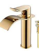 Set de centre Jet pluie with  Soupape céramique Mitigeur un trou for  Ti-PVD , Robinet lavabo