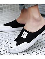 Для мужчин Мокасины и Свитер Удобная обувь Полотно Лето Повседневные Белый Черный Зеленый На плоской подошве