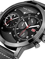 Муж. Спортивные часы Модные часы Наручные часы Уникальный творческий часы Повседневные часы КварцевыйКалендарь Секундомер С двумя