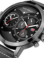 Hombre Reloj Deportivo Reloj de Moda Reloj de Pulsera Reloj creativo único Reloj Casual CuarzoCalendario Cronógrafo Dos Husos Horarios