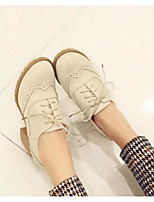 Women's Shoes PU Summer Comfort Heels For Casual Beige Blushing Pink Almond