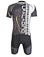 ILPALADINO Maillot de Ciclismo con Shorts Hombre Manga Corta Bicicleta triatlón/Mono Triatlón Hombre Secado rápido Cremallera YKK