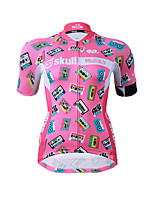 Cycling Jersey Women's Short Sleeves Bike Jersey Fast Dry Quick Dry YKK Zipper High Elasticity Stretchy Polyester Graphic Fashion Summer