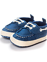 Baby Flats Comfort First Walkers Fabric Spring Fall Casual Blue Dark Blue Flat