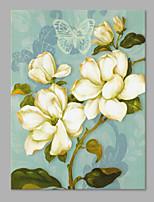 Ручная роспись Цветочные мотивы/ботанический Художественный 1 панель Холст Hang-роспись маслом For Украшение дома