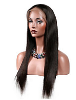 Lace Front Human Hair Wigs Straight Natural Color Hairline Brazilian Remy Hair Lace Wigs For Black Women With Baby Hair
