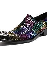 Men's Oxfords Formal Shoes Comfort Novelty Spring Fall Nappa Leather Wedding Office & Career Party & Evening Rivet Flat Heel Black Flat