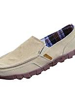 Herren Loafers & Slip-Ons Komfort PU Frühling Herbst Normal Flacher Absatz Grau Marinenblau Khaki Flach