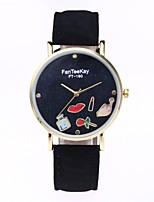Жен. Нарядные часы Модные часы Наручные часы Уникальный творческий часы Китайский Кварцевый PU Материал Группа Мультфильмы С подвесками