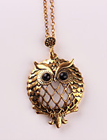 Women's Pendant Necklaces Owl Alloy Animal Design Metallic Jewelry For Wedding Party Birthday Graduation Gift Daily