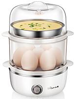 Egg Cooker Double Eggboilers Multifonction Créatif Conception verticale Bruit faible Indicateur d'alimentation Détachable 220V