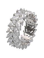 Жен. Кольца для пар Классические кольца Базовый дизайн Мода Циркон Позолота Круглый Бижутерия НазначениеСвадьба Для вечеринок Halloween