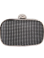 Women Bags All Seasons PC Evening Bag with Rhinestone Metal Chain for Wedding Event/Party Formal Gold Black Silver