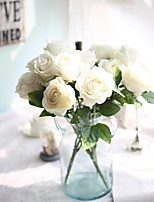 18inch Large Size 5 Heads Silk Polyester Roses Tabletop Flower Artificial Flowers